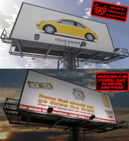 large billboard max2010 1 3d model