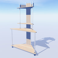 3d corner workstation