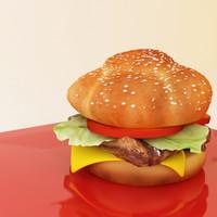 3d max burger