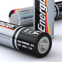 aaa energizer battery 3d model