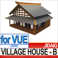 3d samurai village house - model