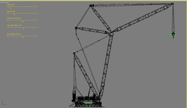 3d max largest mobile crane world - Largest Mobile Crane in the World ( Mammoet PTC) RIgged... by Tornado Studio