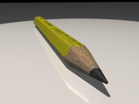 pencil yellow 3d max