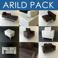 3dsmax arild divan sofa