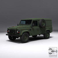 3d british army jeep