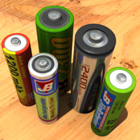 5x Batteries Hi-Res Model Pack