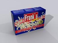 3d model popcorn pop corn