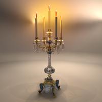 oriental candelabra 3d model