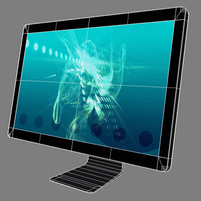 3ds max generic 24 inch led - LED Cinema Display 24 inch... by Markuss