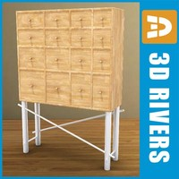 3d cabinet drawers