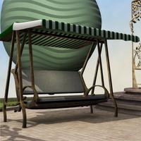 3dsmax seater garden hammock c
