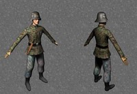 3d german solider ww2