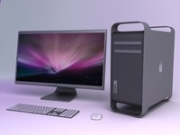 apple macpro 3d model