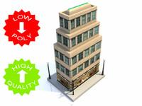 3d model building cities traffic