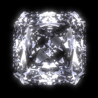 3d radiant diamond cut