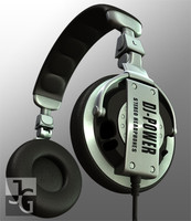 3d dj headphones model