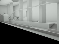 A low poly subway game level