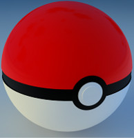 cinema4d pokéball modelled perfect