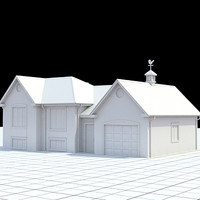 3d single family colonial style model