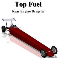 3d model fuel dragster