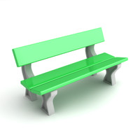 3d model parkbench park bench