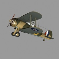 gloster gladiator fighter obj