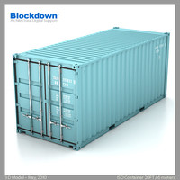 ISO CONTAINER 6m/20ft 3D Model