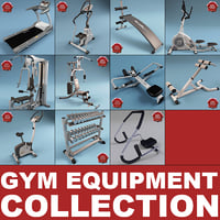 3d model gym equipment v1
