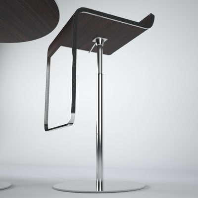 chair lem piston bar 3d model - p3d LEM barstool table set... by Tecton Interactive