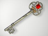 old key 3d c4d