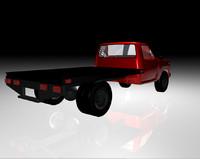 work truck flatbed 3d obj