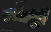 Low poly Jeep Willys
