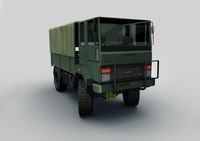 3d ashok leyland stallion 4x4 model