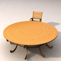 3d chair table c