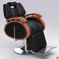 barber chair 3d max