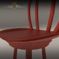 bar stools c4d