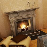 3d fireplace d