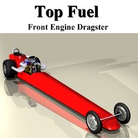 3d model fuel dragster digger