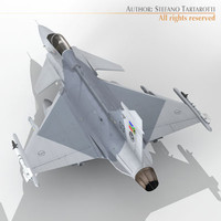 saab jas 39 fighter aircraft 3d model