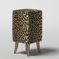 3d 3ds puff padded stool
