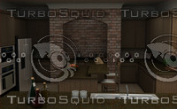 kitchen interiors 3d 3ds