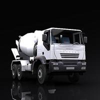 3d mixer truck