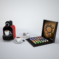 coffee cup machines nespresso 3d model