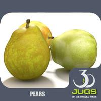 3d model pears fruits mr