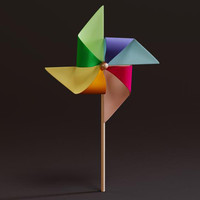 colorful pinwheel 3d model