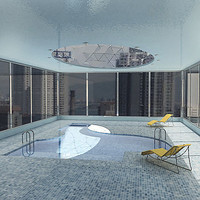 3d model swimming pool
