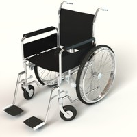 3d model wheel chair wheelchair