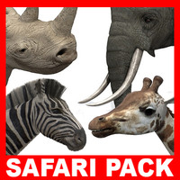 Safari Pack (6 Animal Models)