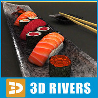 Sushi set  02 by 3DRivers