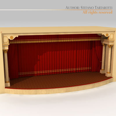 Theatre stage 3d model for Theatre model